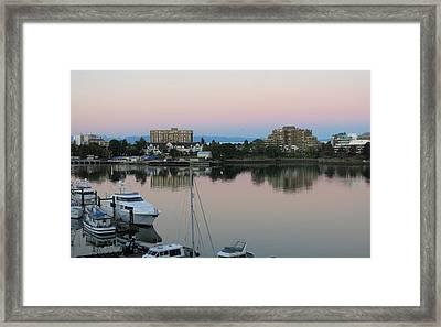 Victoria Harbor Dawn Framed Print