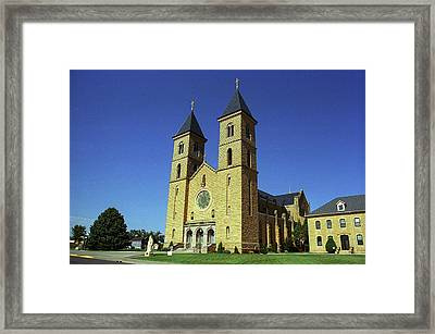Framed Print featuring the photograph Victoria, Kansas - Cathedral Of The Plains 6 by Frank Romeo