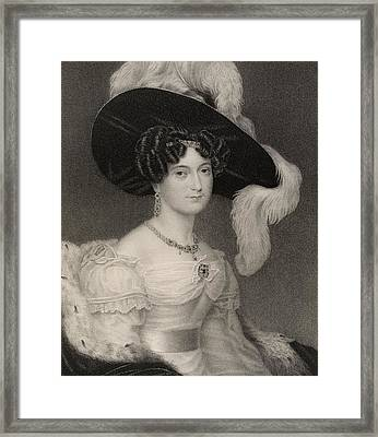 Victoria Maria Louisa Duchess Of Kent Framed Print by Vintage Design Pics