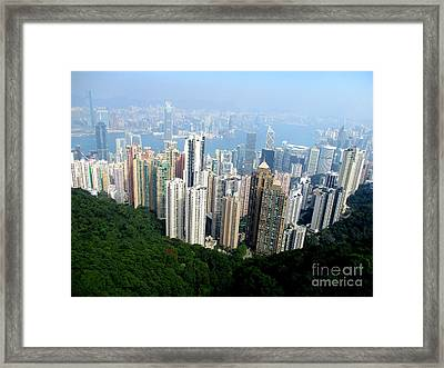 Framed Print featuring the photograph Victoria Peak 1 by Randall Weidner
