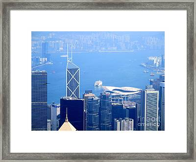 Framed Print featuring the photograph Victoria Peak 2 by Randall Weidner