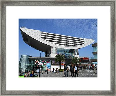 Framed Print featuring the photograph Victoria Peak 3 by Randall Weidner