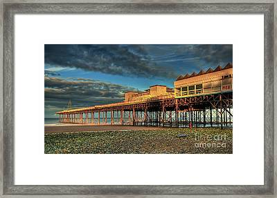 Framed Print featuring the photograph Victoria Pier 1899 by Adrian Evans