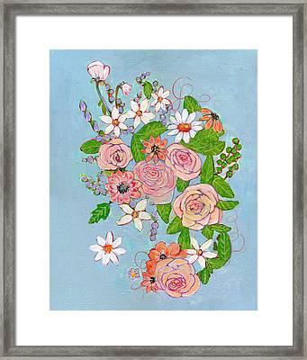 Victoria Rose Flowers Framed Print by Blenda Studio