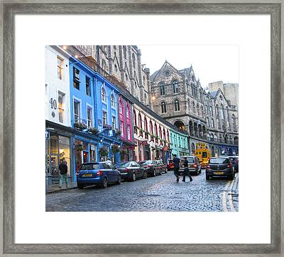 Victoria St Framed Print by Mini Arora