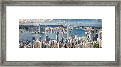 Victoria View Point Framed Print by Anek Suwannaphoom