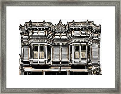 Victorian Architecture Details Framed Print by Edward Fielding