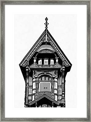 Victorian Architecture Details Turret  Framed Print by Edward Fielding