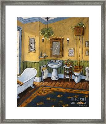 Victorian Bathroom By Prankearts Framed Print by Richard T Pranke