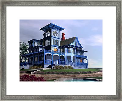 Victorian Cape May Framed Print by John Pangia