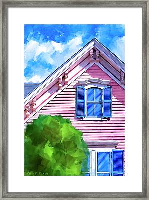 Framed Print featuring the mixed media Victorian Charm - Classic Architecture by Mark Tisdale