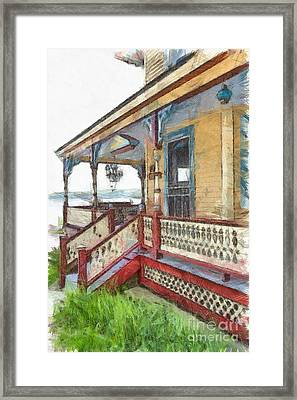 Victorian Cottage Weirs Beach Laconia New Hampshire Framed Print by Edward Fielding