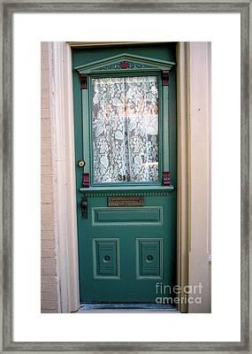 Victorian Door Framed Print by Barbara Oberholtzer