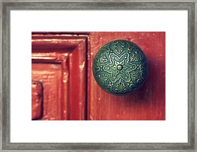 Victorian Door Handle Framed Print