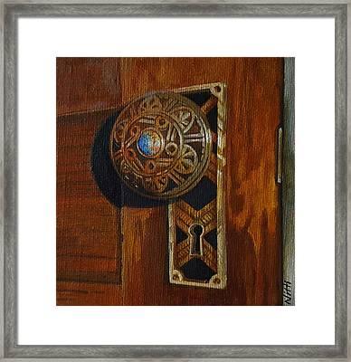 Victorian Doorknob Framed Print by NJ Brockman