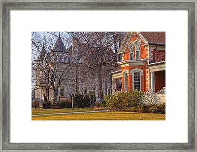 Victorian Era Houses Framed Print by Utah Images