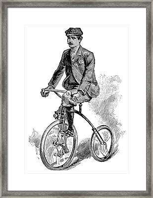 Victorian Gentleman Cycling Framed Print by Neil Baylis