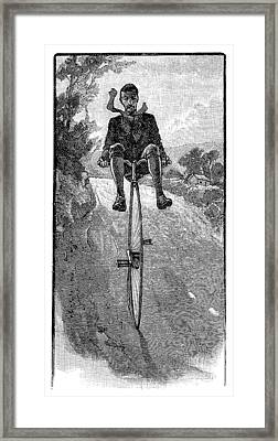 Victorian Gentleman On A Penny-farthing Framed Print by Neil Baylis