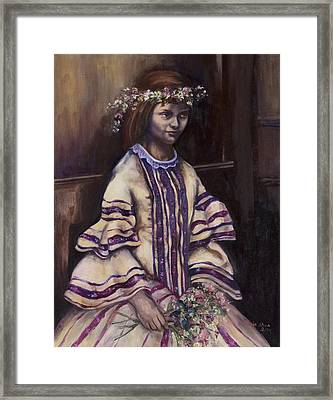 Victorian Girl Framed Print by Victoria  Shea