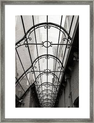 Victorian Glass Roof Framed Print by Wim Lanclus