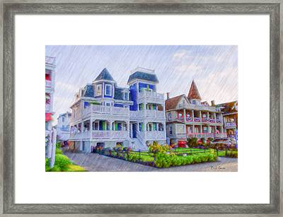 Victorian Houses Cape May Framed Print by Bill Cannon