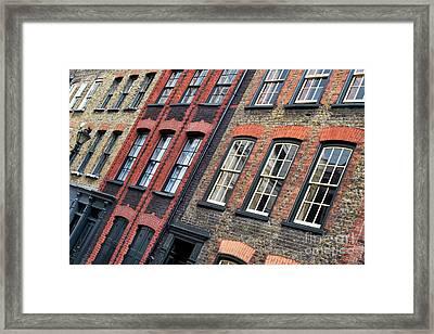 Victorian Houses Fournier Street London Framed Print