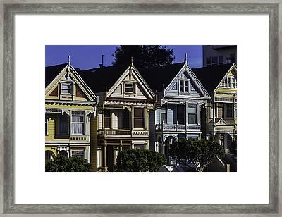 Victorian Houses Framed Print