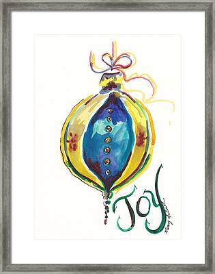 Victorian Joy Ornament Framed Print by Michele Hollister - for Nancy Asbell