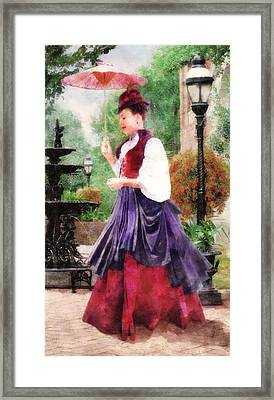 Victorian Lady Framed Print by Francesa Miller
