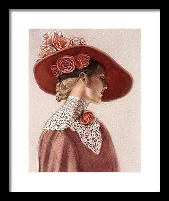 Red Flower Framed Prints