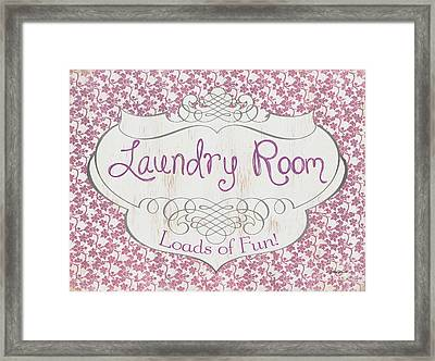 Framed Print featuring the painting Victorian Laundry Room by Debbie DeWitt