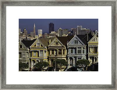 Victorian Painted Ladies Framed Print by Garry Gay