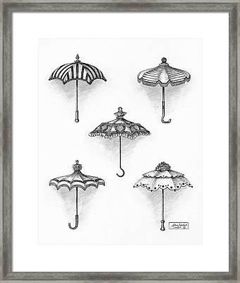Victorian Parasols Framed Print by Adam Zebediah Joseph