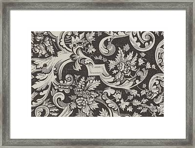 Victorian Pattern Framed Print by English School