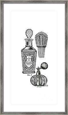Victorian Perfume Phone Case Framed Print