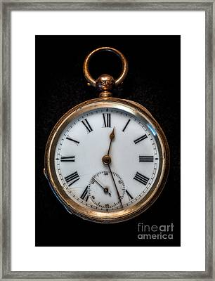 Victorian Pocket Watch Framed Print by Adrian Evans