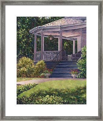 Victorian Porch Framed Print