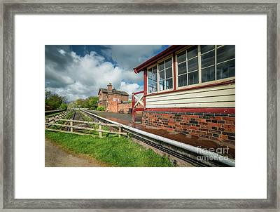 Victorian Railway Station Framed Print by Adrian Evans