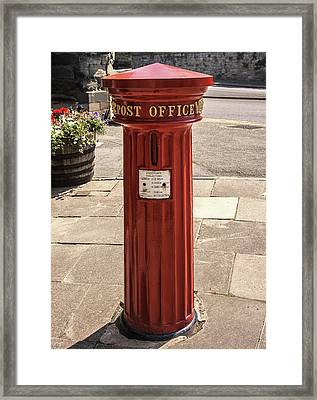 Victorian Red Postbox Framed Print by Georgia Fowler