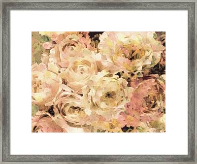 Victorian Rose Blossoms Framed Print by Susan Maxwell Schmidt