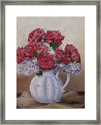 Victorian Rose Framed Print by Gloria Condon