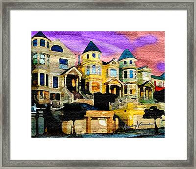 Victorian Row Framed Print by Anthony Caruso
