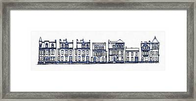 Victorian Row Houses Framed Print by Edward Fielding