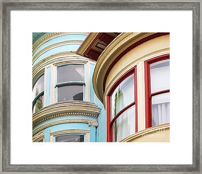 Victorian San Francisco Framed Print by Cheryl Del Toro
