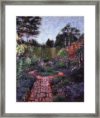 Victorian Secret Garden Framed Print