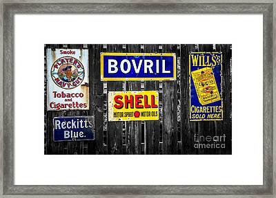 Victorian Signs Framed Print by Adrian Evans