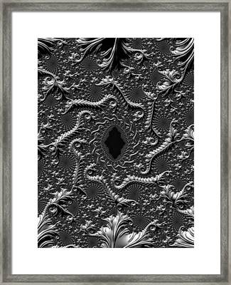 Victorian Sterling Silver Framed Print by Susan Maxwell Schmidt