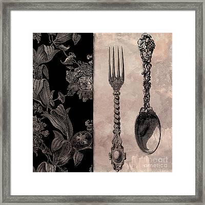 Victorian Table IIi Framed Print by Mindy Sommers