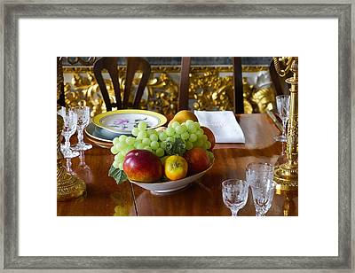 Victorian Table Framed Print by Niel Morley