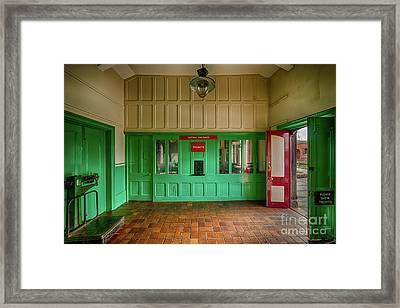 Victorian Ticket Office Framed Print